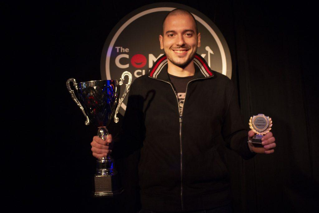 Николаос Цитиридис с наградата на Комеди БГ
